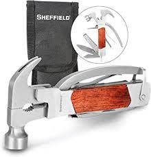 Sheffield 12913 Premium <b>14-in-1</b> Hammer <b>Multi</b> Tool, Multipurpose ...