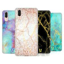 HEAD CASE DESIGNS GLITTERY <b>MARBLE PRINTS HARD</b> BACK ...