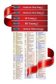 Emt Nursing Emergency Medicine Pocket Charts 5 Quick