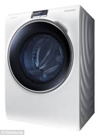 samsung smart washing machine. the ww9000 machine is allows a person to control and monitor their washing using smartphone samsung smart p