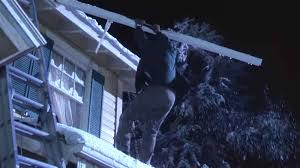 Clark Griswold Hanging Lights Man Tries To Rescue Clark Griswold Decoration Dangling From