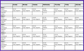 Printable Work Schedule Templates Free Employees Work Schedule Template For Excel Glotro Co
