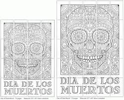 Day Dead Skulls Coloring Pages Kids Mural Colorinenet 15897