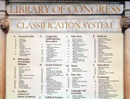 Library Of Congress Classification System Chart