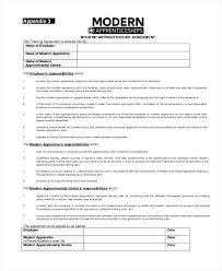 Letter Of Employment Template Contact Apprenticeship Contract ...