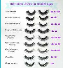 Fake Eyelash Size Chart Best Lashes For Hooded Eyes Expert Style Fit Guide Best