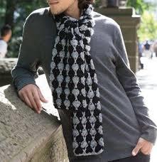 Mens Scarf Crochet Pattern Delectable Men's Scarf Crochet Pattern