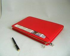 Women Red Business Carrying Apple Macbook Air Briefcase ...