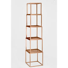 rose gold stackable eere open bookcase