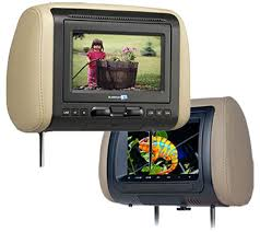 car video headrest dvd overhead flip down monitorsnational auto headrest dvd monitors