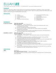 Strikingly 10 Key Resume Majestic Data Entry Clerk Sample Companion