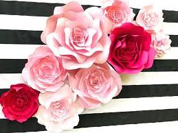 elegant flower wall decor minimalist spade flowers spade inspired paper flower wall decor large paper flower