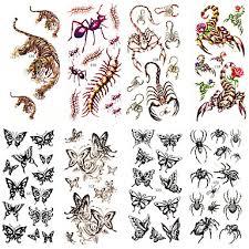 156 1ks Nepromokavé Dočasné Tetování Krk Zápěstí Rameno Prst Tetování Glitter Motýl Těla Tetování 185 Cm 85 Cm