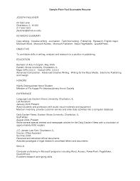 Resume Templatest Text One Page1 Exceptional Plain Templates Plain
