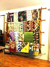 Quilt Stands For Display Stunning Quilt Hangers For Wall Hangings Racks Walls Horse Blanket Rack