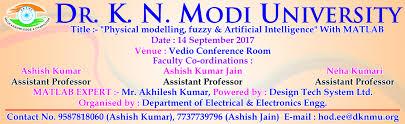 dr k n modi university top ranked engineering colleges of  matlab workshop