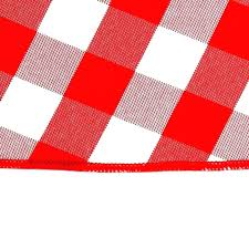 red gingham tablecloth round paper roll checke pk