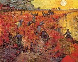 red vineyard vincent van gogh