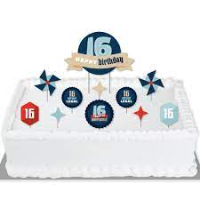 Whether your habit is to party hard or hardly party, a celebration needs to happen. Boy 16th Birthday Sweet Sixteen Birthday Party Cake Decorating Kit Happy Birthday Cake Topper Set 11 Pieces Walmart Com Walmart Com
