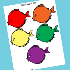 colored fish printables. Fine Fish Fish Cracker Sorting Inside Colored Printables C