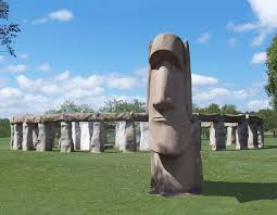 Island of rapa nui moai which was the use of that? Stonehenge Ii With Easter Island Statue In Front Texas Hill Country