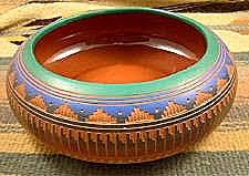 Navajo pottery designs Ceremonial Item738tnavajo Colorful Polychrome Decorative Pottery Bowl By Vleslie Etsy Item738tnavajo Colorful Polychrome Decorative Pottery Bowl By