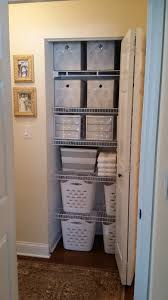 so let s go through the linen closet and check out the bins i know for myself i am nosy and always want to see what is in a bin or a box