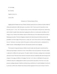 comparison of seamus heaney poems siir tecirlioglu ms standley english a2 year 1 hl 6