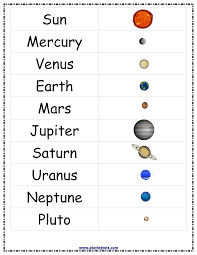 Solar System Chart Worksheet Free Printable For Kids Toddlers Preschoolers Flash Cards