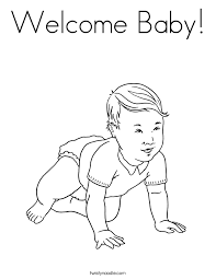 Small Picture New Baby Coloring Pages Twisty Noodle