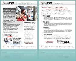 Smart Signs And Designs Versatile Smart Sign Sales Sheet Digital Signage Solutions