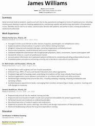 Medical Assistant Resumes Luxury Fresh Medical Resume Template