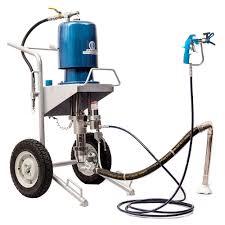 pneumatically driven putty sprayer