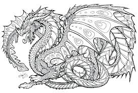 Easy Dragon Coloring Pages For Adults