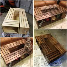 1000 ideas about wood crate table on wine crate