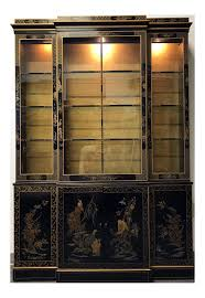 cabinet antique curved glass china cabinet value lovely drexel heritage et cetera asian chinoiserie breakfront
