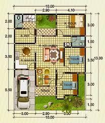 contoh desain denah rumah minimalis type 90