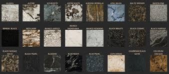 granite stone colors