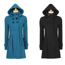 new new woman trench double ted slim coats womans long winter wool long hooded coat las fashion outerwear