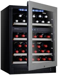 Wine Bottle Storage Angle Vintec V40sg2es3 40 Bottles Dual Zone Wine Storage Cabinet