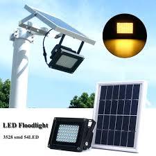 waterproof led solar light panel flood sensor floodlight outdoor lights with remote garden