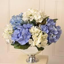 hydrangea arrangement fl home decor silk hydrangea fl arrangement in bowl