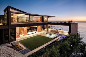 Modern home with the ocean view