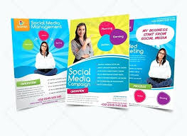 Marketing Brochure Templates Social Media Brochure Template Flyer Consultant Margines Info