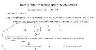 Ac Method Zachs Blog Alternative Factoring Methods