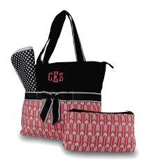 Monogram Quilted Diaper Bag | Arrow Pattern Personalized &  Adamdwight.com