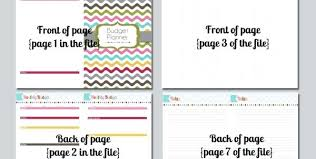 Budget Free Bill Planner Template Zoom Household Printable Worksheet ...