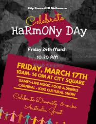 celebration flyer template. Harmony Day Celebration Flyer Template PosterMyWall