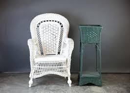 white wicker chair. Vintage White Wicker Peacock Chair Furniture Rental Near Me