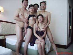 Uncensored asian orgy group